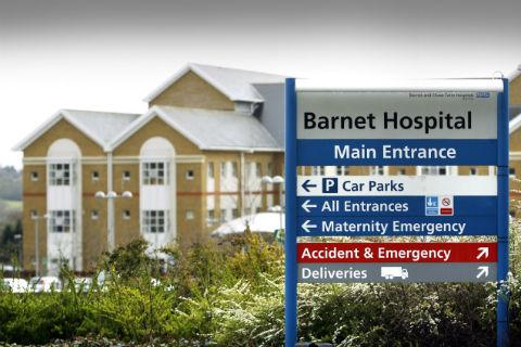 Barnet Hospital has reduced its non-clinical cleaning contract from daily to weekly, leaving staff to work among overflowing bins and unsanitary toilets