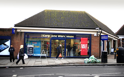 Carphone Warehouse in Station Road Edgware where a gang of teenagers snatched 23 mobile phones and a laptop
