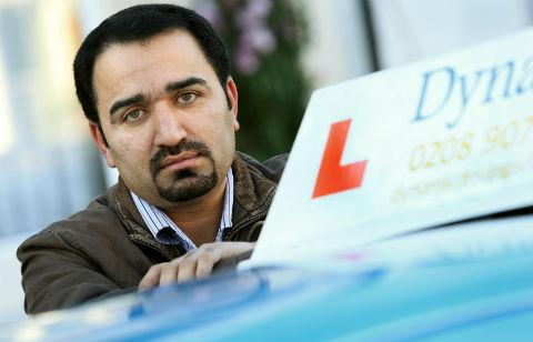 Instructor Athar Abbas, who owns Dynamic Driving School, says many candidates are put off by Borehamwood