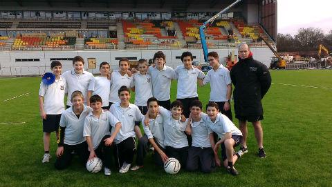 Hasmonean Boys' School became the first to hold a PE lesson on the artificial pitch at Allianz Park