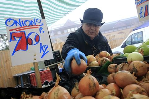 Times Series: Fruit and veg stall owner Steve Dickinson's family has had a presence at the market for more than 30 years