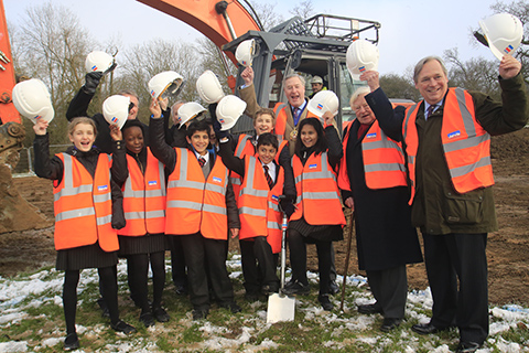 Dame Alice Owen's School celebrates digging the first sod for new science building