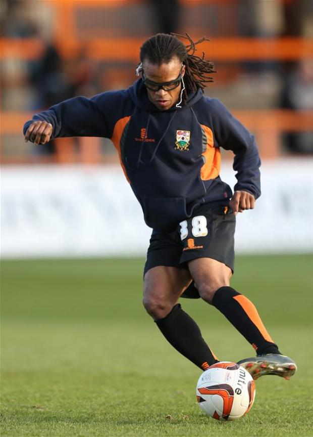 Edgar Davids will hope to be fit for tonight's clash against Bristol Rovers. Picture: Action Images