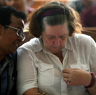 Lindsay Sandiford listens to her interpreter during her sentencing at a courthouse in Denpasar, Bali (AP)
