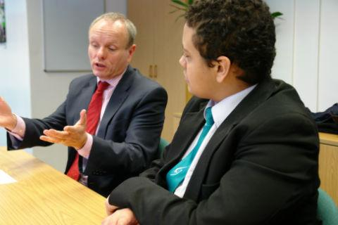Finchley and Golders Green MP Mike Freer spoke to media students at The Compton School for almost an hour