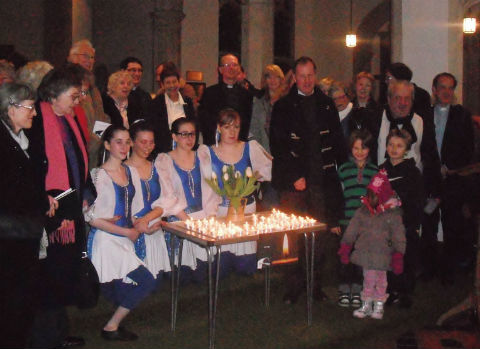 Worshippers mark Holocaust Memorial Day at St Mary-at-Finchley