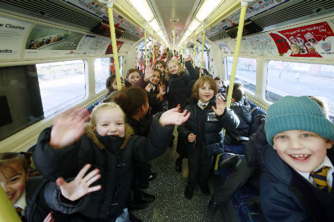 London Underground arranged an empty train for almost 300 schoolchildren from St Mary's C of E Primary in Finchley