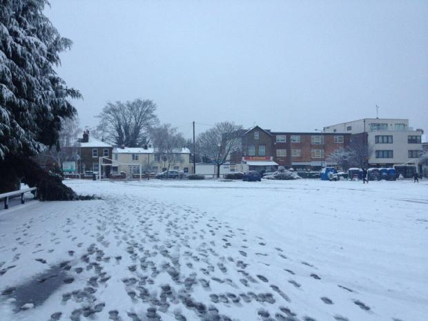 Kirsty Richards tweeted this picture of Finchley in the snow this morning