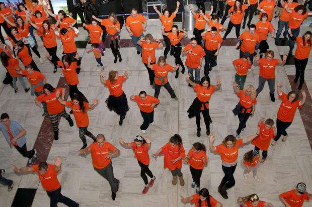 More than 50 dancers took part in the flash mob (photo by Daniel Jackson)