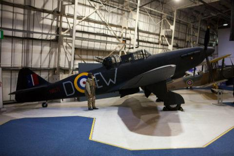 The last remaining Boulton Paul Defiant in all its glory at the Royal Air Force Museum