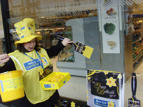 Volunteer Donna Luff raising cash for Marie Curie Cancer Care