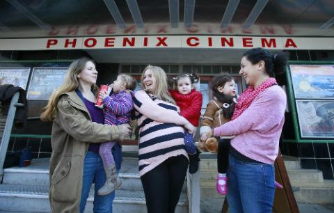 The very young audience, aged between two and four, were taken to the Phoenix Cinema in East Finchley