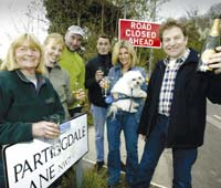 Partingdale Lane residents celebrate the High Court decision