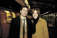 Tubular wedding bells: Marc Sosnow and his fiance Naomi Caplin met on the Northern Line