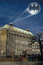 Scene setter: the NIMR, in The Ridgeway, Mill Hill, became Arkham Asylum for the movie