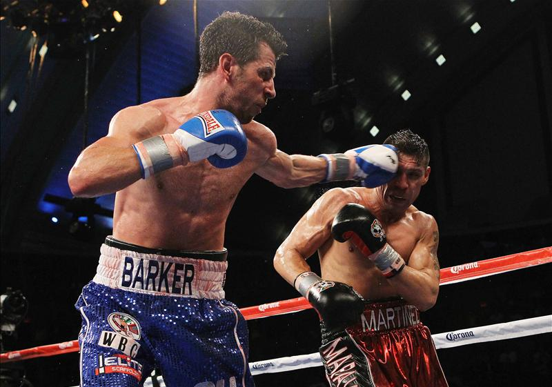 Darren Barker world title fight against Sergio Martinez. Picture: Action Images