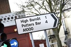 Sign of the times: accents have appeared on road signs across the borough, amusing some people and angering others