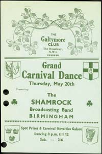 Grand time: a poster advertising a carnival dance in the 1950s