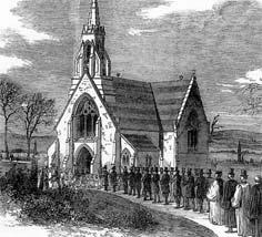 Mourners in the churchyard: the consecration of St Marylebone Cemetery in March 1855