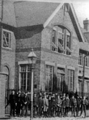 Sweeping changes: the East Finchley Board School, in Long Lane, was opened in 1884 and was typical of its time, with boys and girls kept strictly apart. This is a 1912 photograph