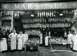Counter measures: Marshall, near Tally Ho, Finchley, was a fishmonger and poulterer noted for the quality of its products. Service was personal and carried out by a team of shop assistants