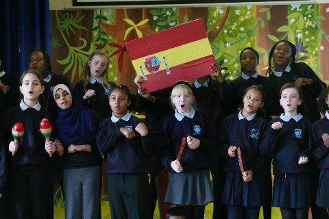 Deansbrook Juniors perform their Spanish tune