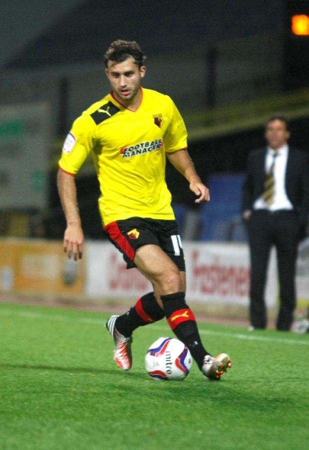 Ross Jenkins has found first team opportunities limited at Watford this season. Picture: Holly Cant