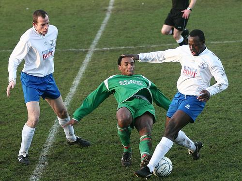 Adam Wallace in action for Edgware Town against Enfield in 2008 - their most recent season in league action. Picture: Phil Davidson