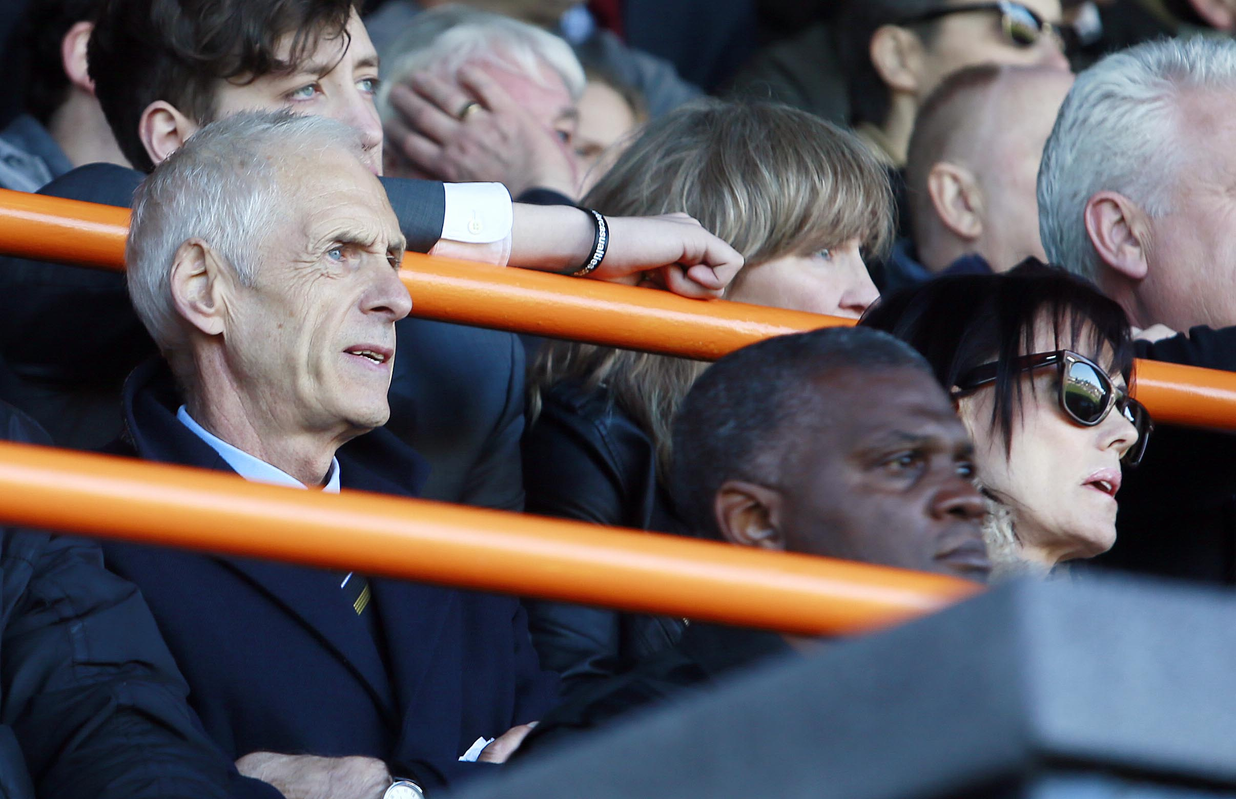 Times Series: Paul Fairclough watches on as Barnet play their last ever match at Underhill.