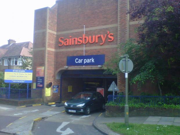 Sainsbury's car park in Ravensdale Avenue