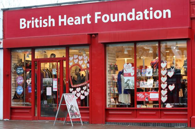 All of the donations will be sold in British Heart Foundation charity shops like this one