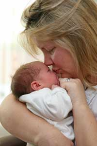 Proud mums: Julie Catling with baby Olivia. Deadlinepix NO2045 - 254395