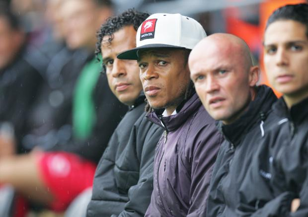 Dick Schreuder (centre right) insists not much has changed at Barnet since Edgar Davids left.