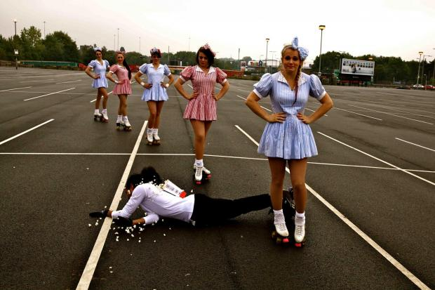 The drive-in cinema firm held auditions for roller-blading waitresses at Brent Cross last summer