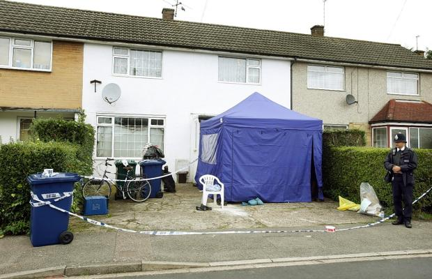 Times Series: Police cordoned off a house in Aitken Road while they carried out their investigation last October.