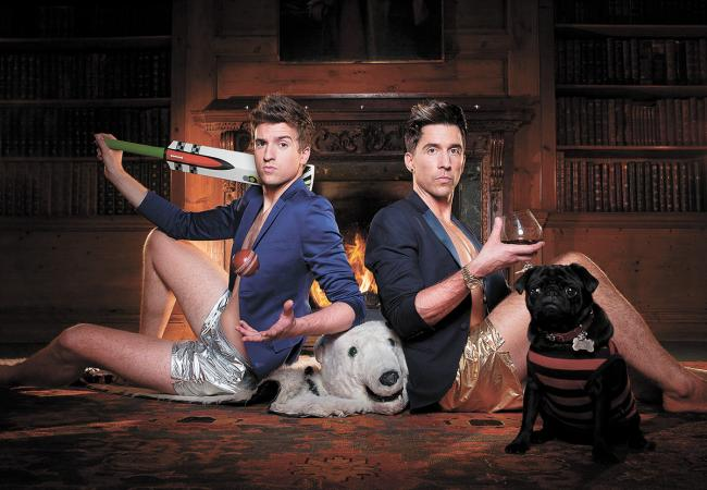 Greg James and Russell Kane