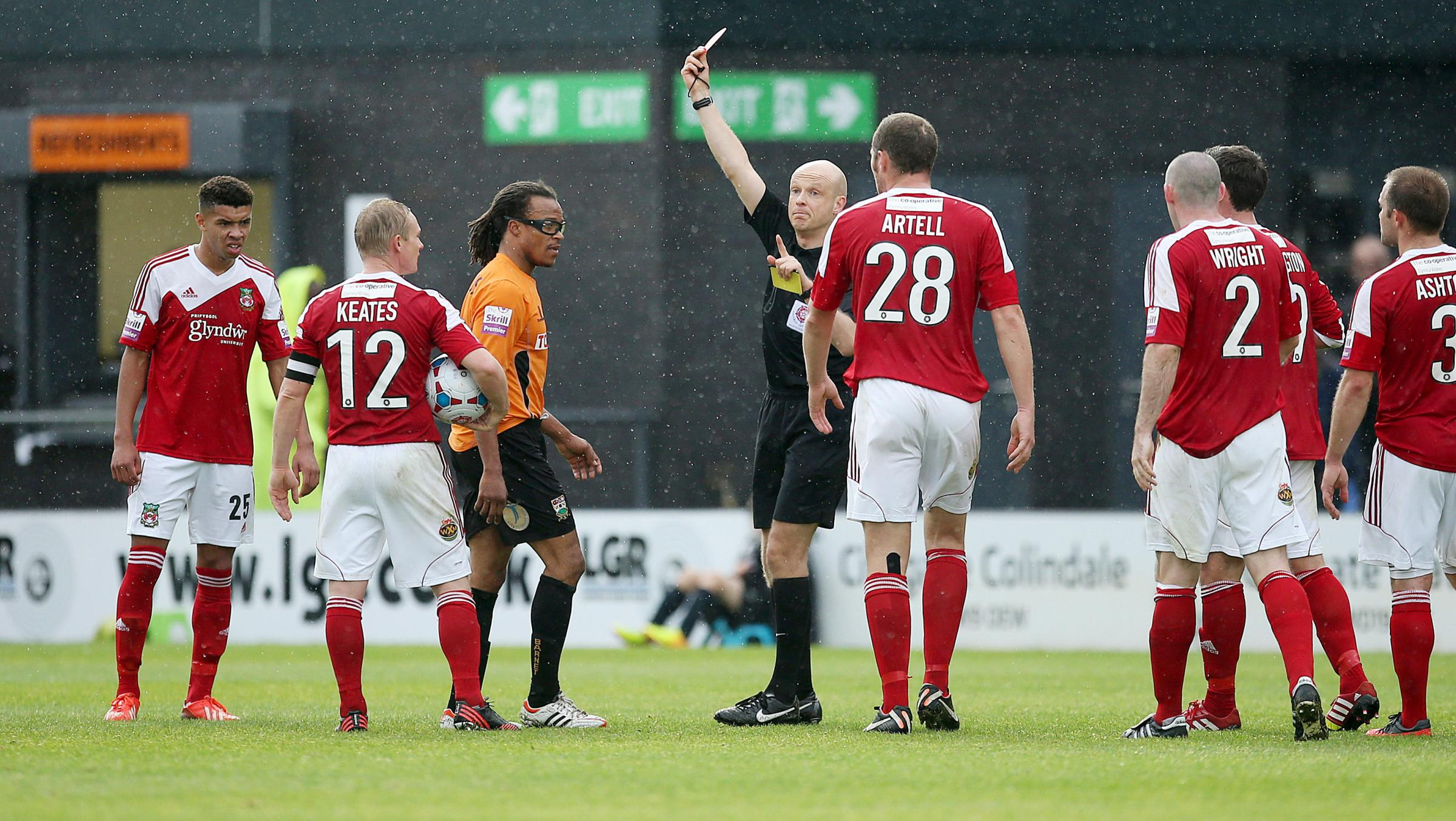 Edgar Davids has been sent off three times this season. Picture: Action Images