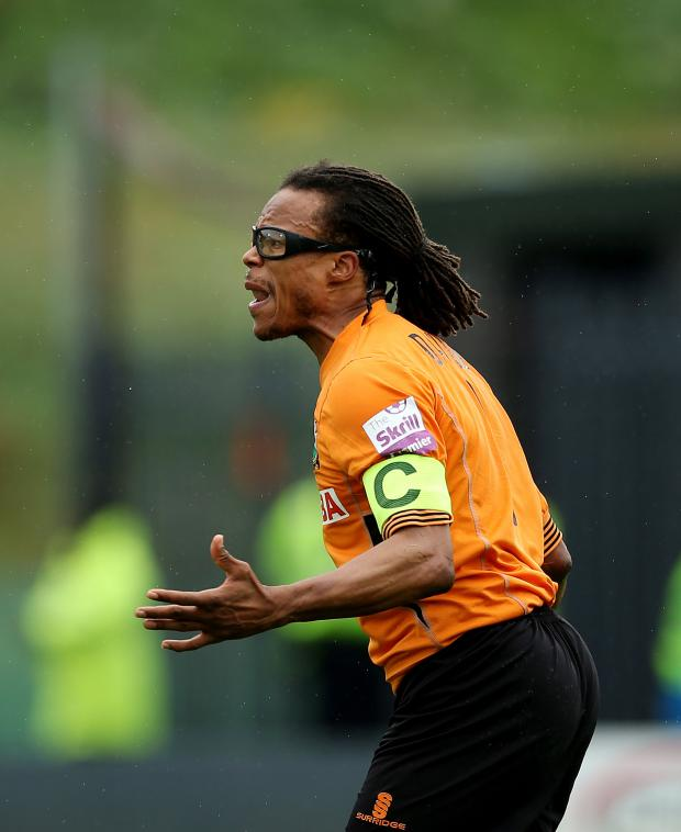 Times Series: Edgar Davids was sent off in the defeat. Picture: Action Images