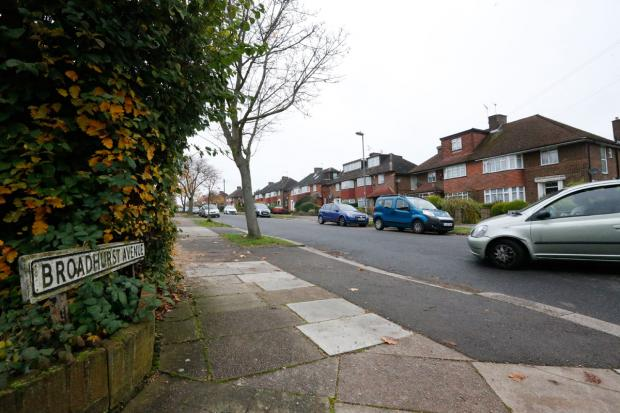 Times Series: Broadhurst Avenue, where two men fired shots at policemen on Saturday.