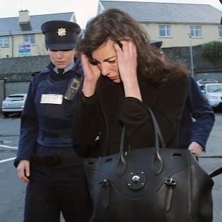 Niece of fashion designer Ralph Lauren, Jennifer Lauren, arrives at Killaloe District Court