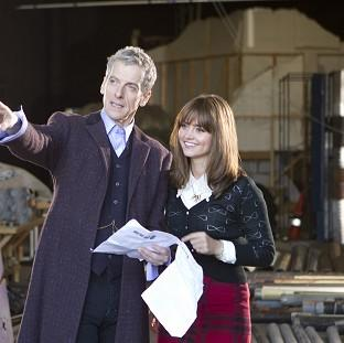 Times Series: Actor Peter Capaldi admitted feeling nervous as he started work as the new Doctor Who with co-star Jenna Coleman