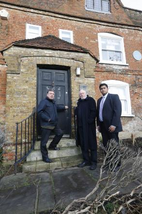 Gerard Roots, Andrew Dismore and East Finchley Councillor Arjun Mittra