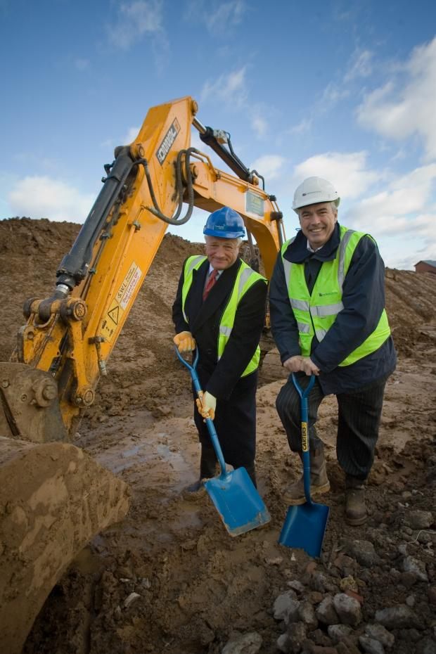 Times Series: Directors and representatives from the developers marked the start of building work for the latest phase of the project on Thursday