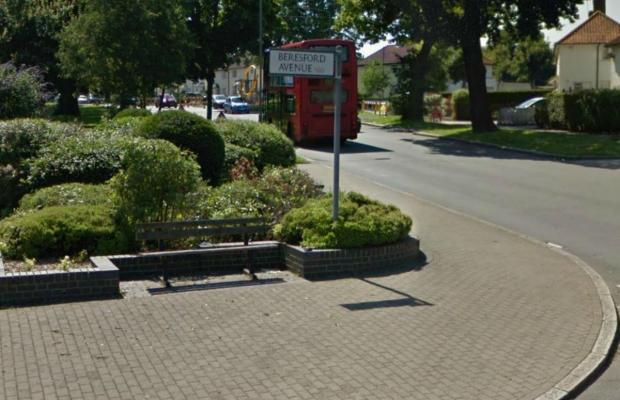 The bench at the corner of Beresford Avenue, before it was removed following complaints of anti-social behaviour