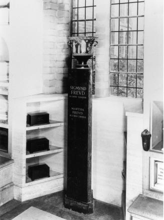 The urn was on display indoors at the Hoop Lane cemetery at the time of the attempted theft
