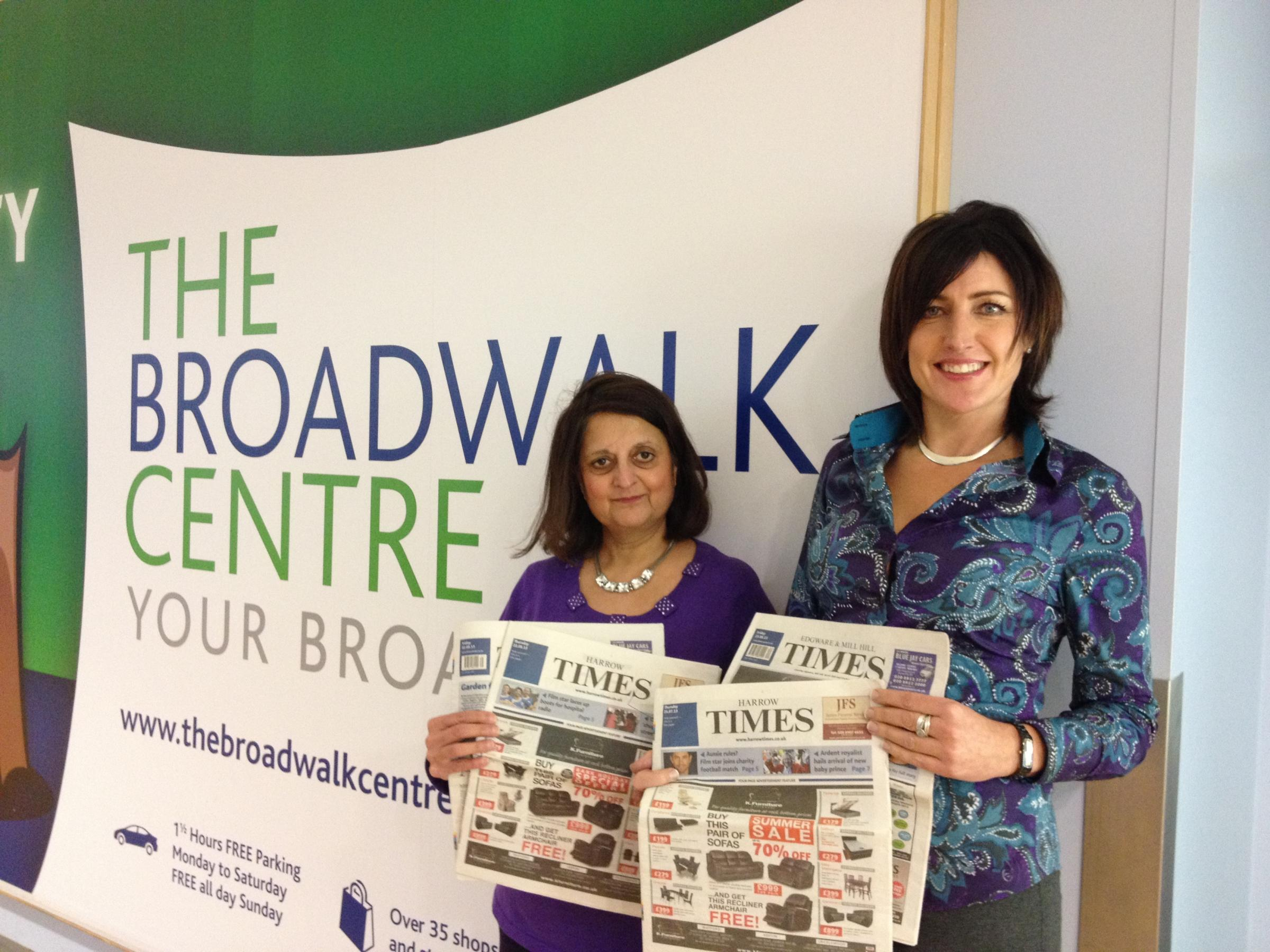 Ranu Mehta-Radia, Founder of Sai School of Harrow and Angela Brooks, Centre Manager of The Broadwalk Centre