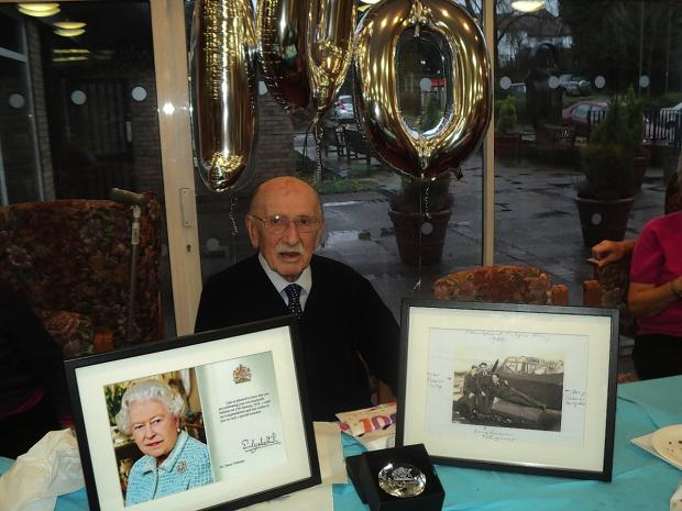 Harold Fishman celebrated his 100th birthday
