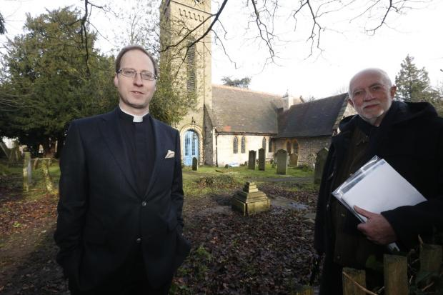 Former church warden David Howard and church rector the Rev James Mustard are leading the £1.5million project to extend the historic church