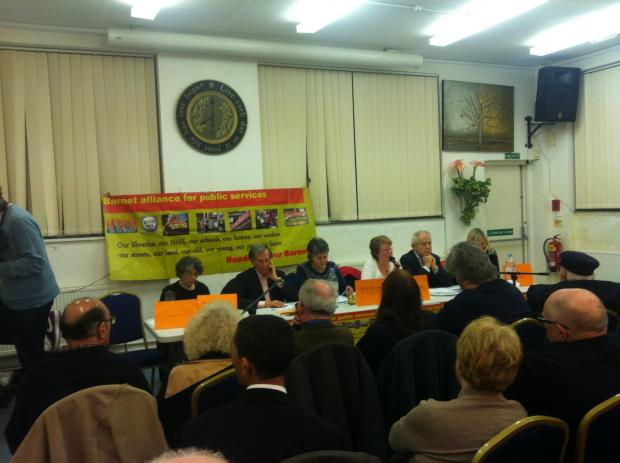 The panel continued the debate after the initial disruption when UKIP representative Adrian Murray-Leonard gatecrashed the meeting