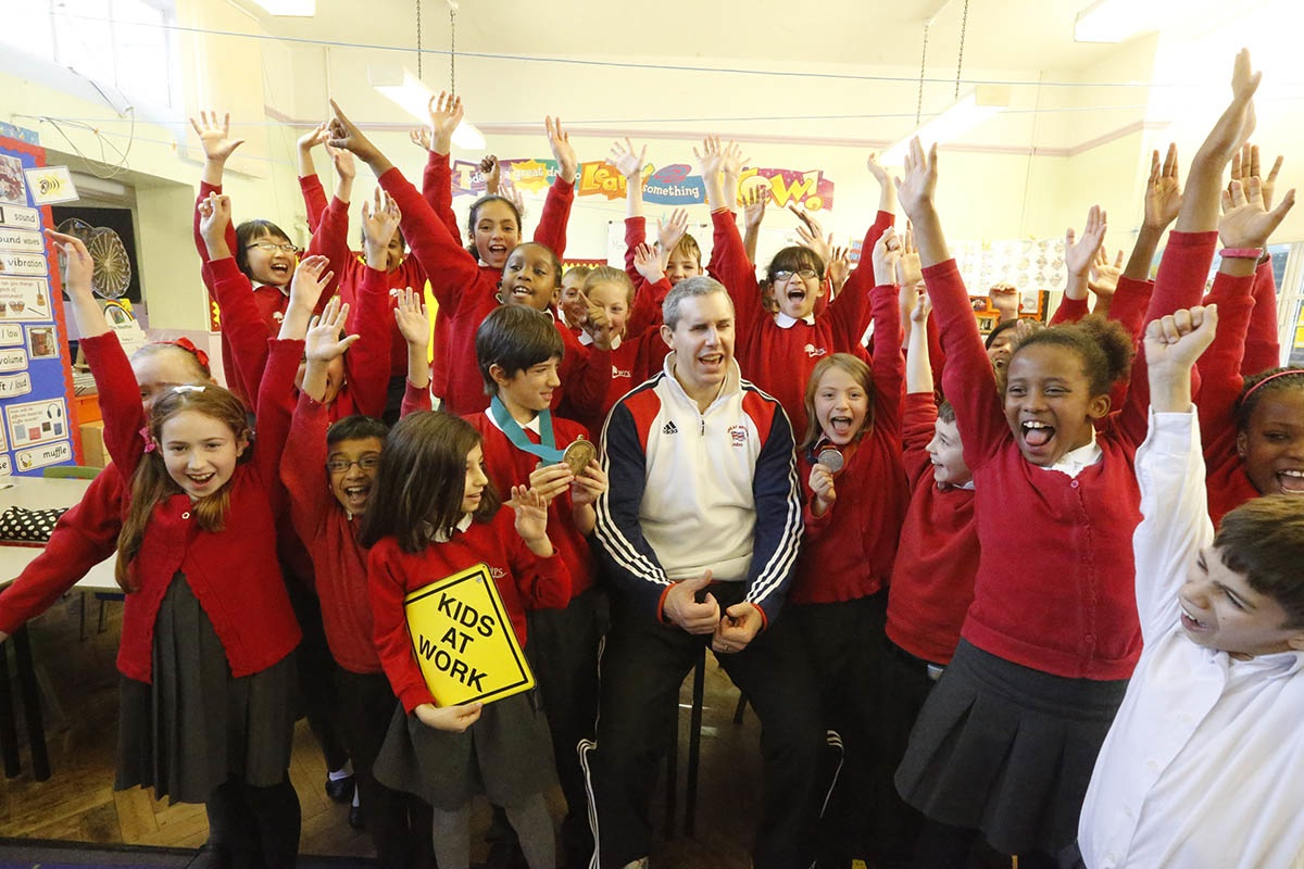 Paralympic judo medalist inspires pupils